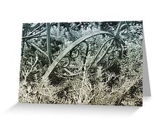 Wagon metal sculpture  Greeting Card