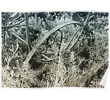 Wagon metal sculpture  Poster