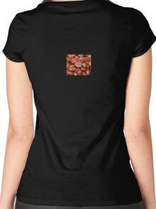 Coffee Bean Lover T-Shirt Dress Duvet Sticker Women's Fitted Scoop T-Shirt