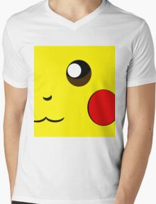 Cartoon yellow face Mens V-Neck T-Shirt