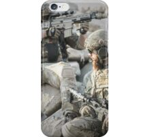Two soldiers shielded the front lines iPhone Case/Skin