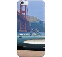 1956 Chevrolet Corvette Convertible 'In Profile' iPhone Case/Skin
