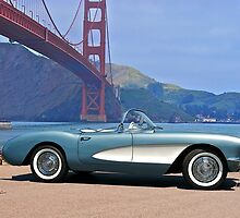 1956 Chevrolet Corvette Convertible 'In Profile' by DaveKoontz