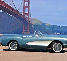 1956 Chevrolet Corvette Convertible 'In Profile' by DaveKoontz