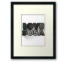 Love Sosa Framed Print