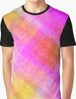 Colorfull Pink Yellow Graphic T-Shirt
