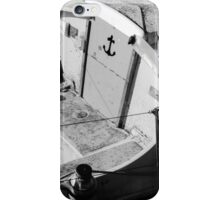 Anchor sign on the boat iPhone Case/Skin