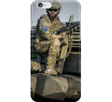 soldier shielded the front line iPhone Case/Skin