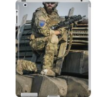 soldier shielded the front line iPad Case/Skin