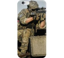 soldier in the front lines of war  iPhone Case/Skin