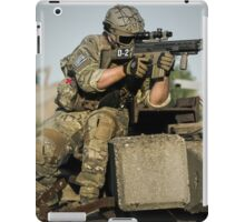 soldier in the front lines of war  iPad Case/Skin