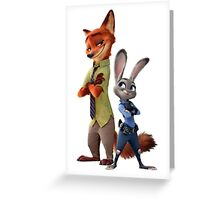 Judy and Nick (Zootopia) Greeting Card
