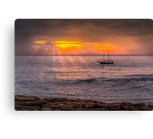 Evening sunset at sea Canvas Print