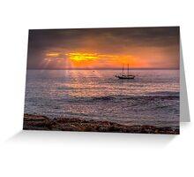 Evening sunset at sea Greeting Card