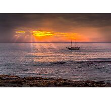 Evening sunset at sea Photographic Print