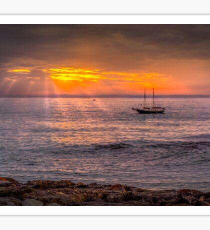 Evening sunset at sea Sticker