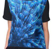 Digitales Glasfiber mit blauem Licht Chiffon Top