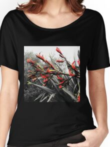 """Waiheke Island"" - Flax Flowers Women's Relaxed Fit T-Shirt"