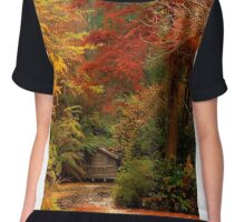 Autumn in the Dandenongs  Chiffon Top