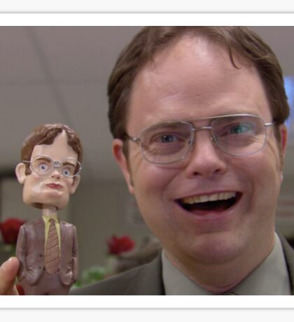 Dwight & Lil' Dwight Sticker