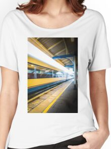 The train leaving platform . . . . .  Women's Relaxed Fit T-Shirt