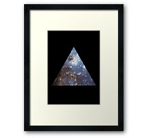Blue Galaxy Triangle Framed Print