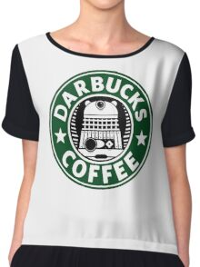 Darbucks Coffee Chiffon Top