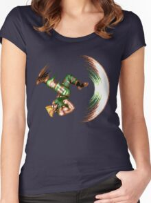 Guile Flash Kick Women's Fitted Scoop T-Shirt