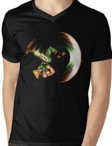 Guile Flash Kick Mens V-Neck T-Shirt