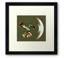 Guile Flash Kick Framed Print