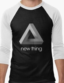 new thing penrose triangle optical illusion impossible Men's Baseball ¾ T-Shirt