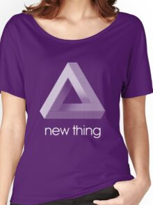 new thing penrose triangle optical illusion impossible Women's Relaxed Fit T-Shirt