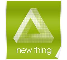 new thing penrose triangle optical illusion impossible Poster