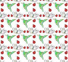 Custom Butterfly, Hummingbird and Ladybug Pattern by Almdrs