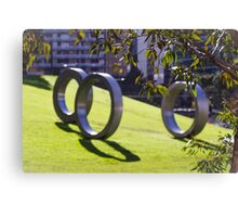 Silver rings in the park Canvas Print