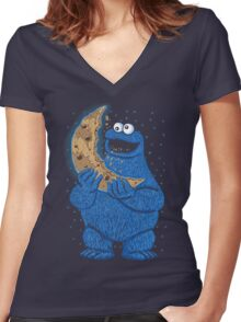 Cookie Moon Women's Fitted V-Neck T-Shirt