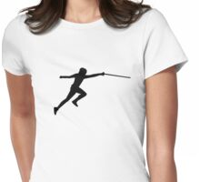 Fencing fencer Womens Fitted T-Shirt