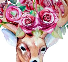 Shy watercolor floral deer Sticker