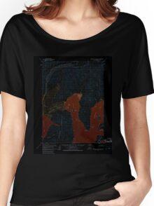 USGS TOPO Map Alaska AK Stepovak Bay D-5 359342 1963 63360 Inverted Women's Relaxed Fit T-Shirt