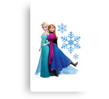 Frozen - Elsa and Anna Design Metal Print