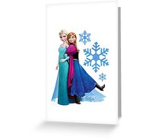 Frozen - Elsa and Anna Design Greeting Card
