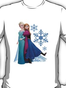 Frozen - Elsa and Anna Design T-Shirt