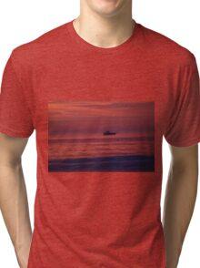 Boat at SUNRISE Tri-blend T-Shirt