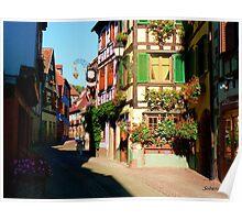 Une Rue d'Alsace Poster