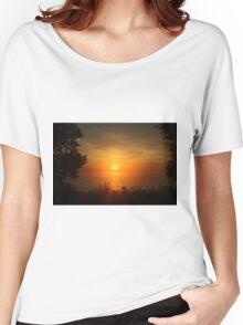 Sunrise in Sheboygan, Wisconsin Women's Relaxed Fit T-Shirt