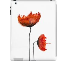 Watercolour poppies iPad Case/Skin