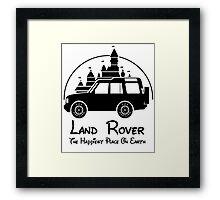 Disney Castle - Land Rover (Parody) Framed Print