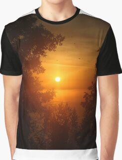 Sunrise in Sheboygan, Wisconsin Graphic T-Shirt