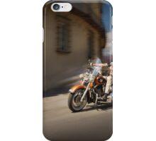 Harley Davidson rider in Malaga iPhone Case/Skin
