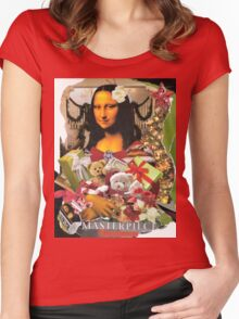 Mona Xmas Collage Art Wear Women's Fitted Scoop T-Shirt